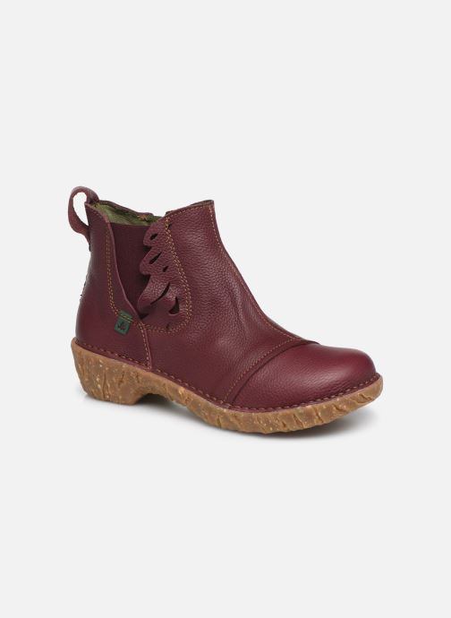 Ankle boots El Naturalista Yggdrasil 5E-124 Burgundy detailed view/ Pair view